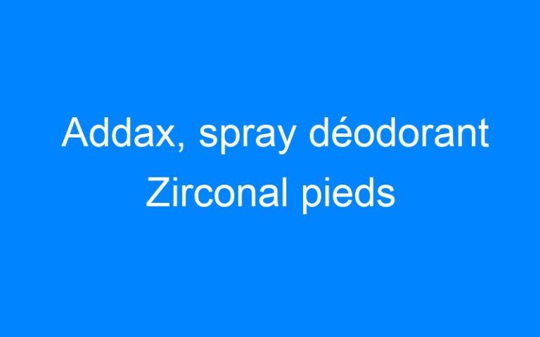 Addax, spray déodorant Zirconal pieds